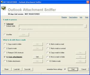 Enlarge Outlook Attachment Sniffer Screenshot