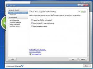 Enlarge F-Secure Anti-Virus Screenshot