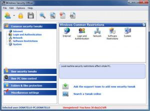 Enlarge Windows Security Officer Screenshot