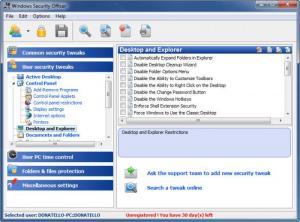 Enlarge Windows Security Officer Screenshot