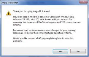 Enlarge Angry IP Scanner Screenshot