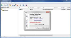 Enlarge Password Manager XP Screenshot