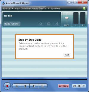 Enlarge Audio Record Wizard Screenshot