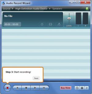 Enlarge Audio Record Wizard Screenshot