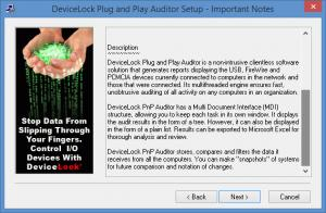 Enlarge DeviceLock PnP Auditor Screenshot