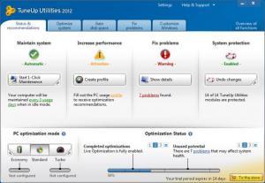 Enlarge TuneUp Utilities Screenshot