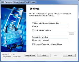 Enlarge Exe Password Screenshot
