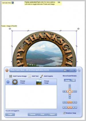 Enlarge Photo Frame Show Screenshot