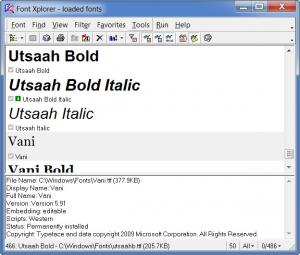 Enlarge Font Xplorer Screenshot