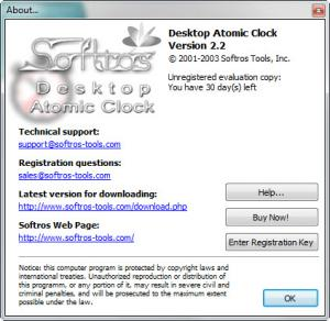 Enlarge Desktop Atomic Clock Screenshot