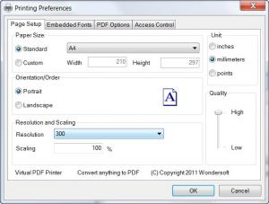 Enlarge Virtual PDF Printer Screenshot