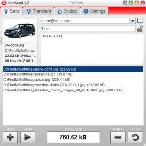 Enlarge FastSend Screenshot