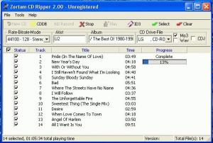 Enlarge Zortam CD Ripper Screenshot