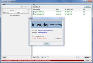 Enlarge Complete File Renamer Screenshot