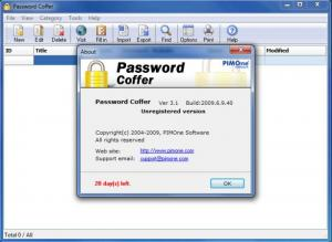 Enlarge Password Coffer Screenshot