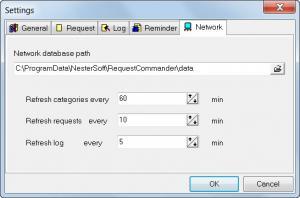 Enlarge Request Commander Screenshot
