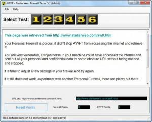 Enlarge Atelier Web Firewall Tester Screenshot