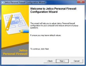 Enlarge Jetico Personal Firewall Screenshot
