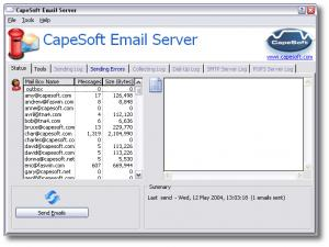Enlarge CapeSoft Email Server Screenshot