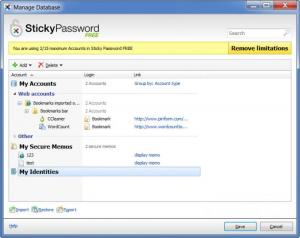 Enlarge Sticky Password Free Screenshot