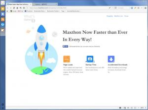 Enlarge Maxthon Browser Screenshot