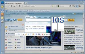 Enlarge Maxthon Cloud Browser Screenshot