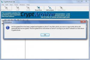 Enlarge CryptArchiver Screenshot