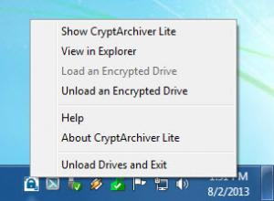 Enlarge CryptArchiver Screenshot