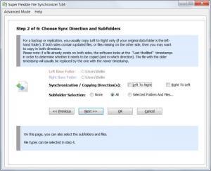 Enlarge Super Flexible File Synchronizer Screenshot