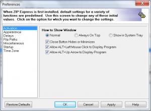 Enlarge Zip Express Screenshot