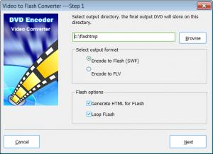 Enlarge Video to Flash Converter Screenshot