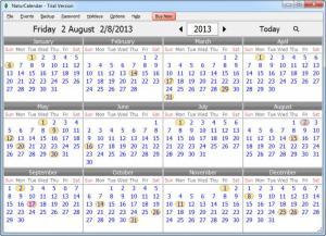 Enlarge NaturCalendar Screenshot