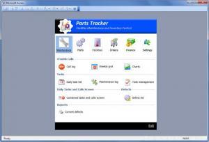 Enlarge Parts Tracker Screenshot