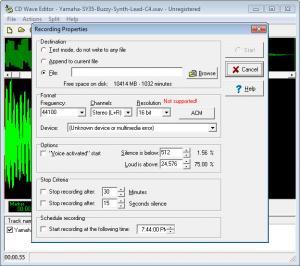 Enlarge CD Wave Editor Screenshot