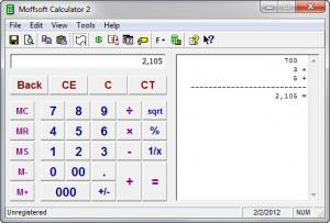 Enlarge Moffsoft Calculator Screenshot