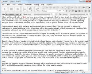 Enlarge Speaking Notepad Screenshot