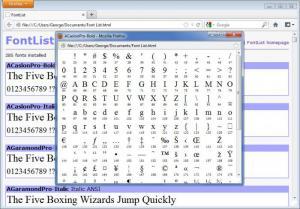 Enlarge FontList Screenshot