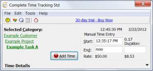 Enlarge Complete Time Tracking Standard Screenshot