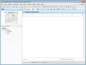 Enlarge Advanced Diary Screenshot