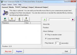 Enlarge Power Screensaver Builder Screenshot