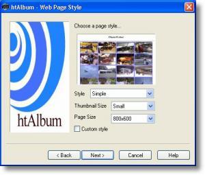Enlarge htAlbum Screenshot