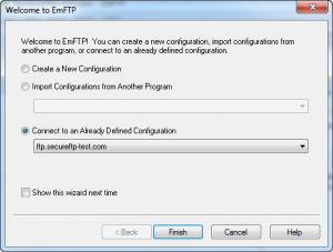 Enlarge EmFTP Professional Screenshot