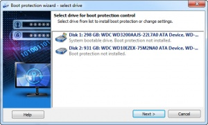 Enlarge Disk Password Protection Screenshot