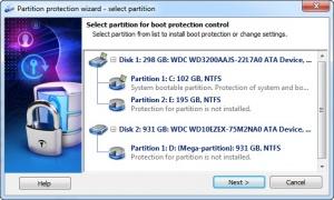 Enlarge Disk Password Protection Screenshot