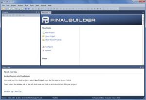 Enlarge FinalBuilder Screenshot