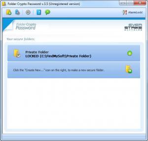 Enlarge Folder Crypto Password Screenshot