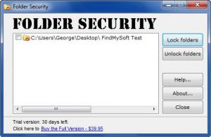 Enlarge Folder Security Screenshot
