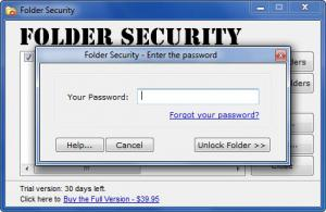 Enlarge Folder Security Screenshot