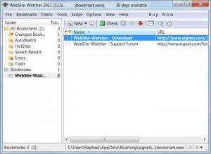 Enlarge WebSite-Watcher Screenshot