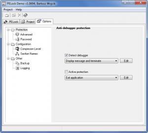 Enlarge PELock Screenshot